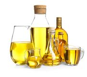 Composition with cooking oil Royalty Free Stock Photography