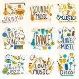 Composition créative décorative en musique et en roche Image libre de droits