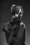 Composition créative sur le corps de femmes Photographie stock