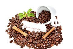Composition of a cup of coffee Stock Images