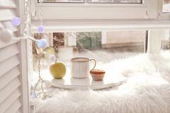 Composition with cup of tea Royalty Free Stock Photos