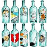 Composition décorative avec de la bière Photos stock