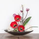 Composition décorative de fleur Image libre de droits