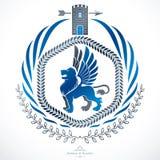 Composition décorative en emblème de vintage, vecteur héraldique Photos libres de droits