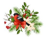 Composition décorative en vecteur de Noël Photographie stock libre de droits