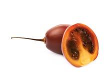 Composition découpée en tranches en fruit de tamarillo Image stock