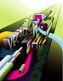 composition d'abrégé sur le vecteur 3d illustration de vecteur