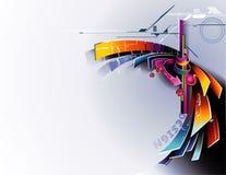 composition d'abrégé sur le vecteur 3d illustration libre de droits