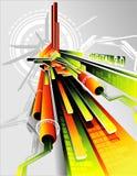 composition d'abrégé sur le vecteur 3d illustration stock