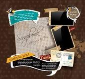 Composition d'album à cru Photographie stock libre de droits
