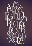 Composition d'alphabet de Lombard illustration libre de droits