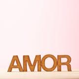 Composition d'amour des lettres Image stock