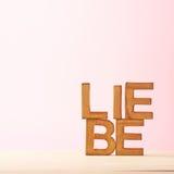 Composition d'amour des lettres Photo stock