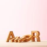 Composition d'amour des lettres Images stock
