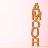 Composition d'amour des lettres Photo libre de droits