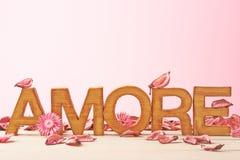 Composition d'amour des lettres Image libre de droits
