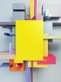 Composition d'art abstrait illustration stock