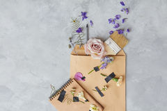 Composition d'enveloppe Images stock