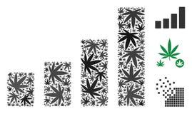 Composition d'histogramme des feuilles de mauvaise herbe illustration de vecteur