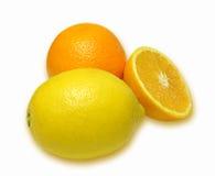 Composition d'orange et de citron Photo stock