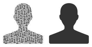 Composition de client des éléments binaires Images libres de droits