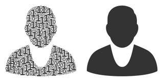 Composition de client des éléments binaires Photos libres de droits