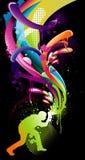 Composition de couleur de peintre illustration libre de droits