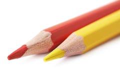Composition de dessin en deux crayons Image libre de droits