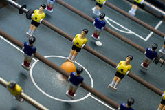 Composition de diagonale de jeu de Foosball Photographie stock