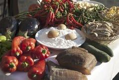 Composition de diverse nourriture Photo stock