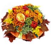 Composition de fleur d'automne sur le fond blanc image stock