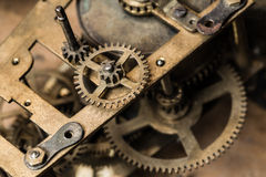 Composition de fond de l'horloge mechanism Image stock