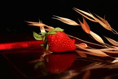 Composition de fraise Photos stock