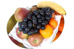 Composition de fruits frais Photos libres de droits