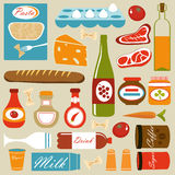 Composition de graphismes de nourriture illustration stock