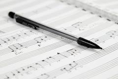 Composition de musique à la main Images stock