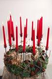 Composition de Noël avec des bougies Photographie stock