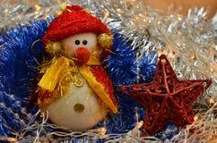 Composition de Noël Bonhomme de neige Photo libre de droits