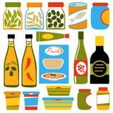 Composition de nourriture colorée illustration stock