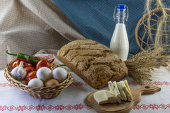 Composition de nourriture dans le type de pays Photographie stock libre de droits