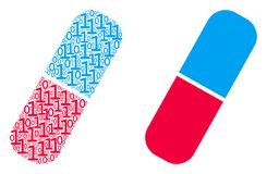 Composition de pilule des éléments binaires illustration de vecteur