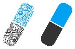Composition de pilule des outils de réparation illustration libre de droits