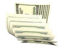 Composition de plusieurs billets de banque des dollars Image libre de droits
