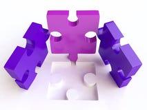 Composition de puzzles denteux dans 3D Images stock