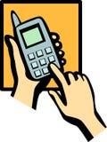 Composition de téléphone portable Photo stock