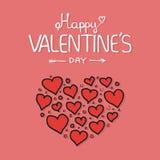 Composition de Valentines des coeurs illustration stock