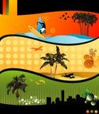 Composition de vecteur de plage illustration libre de droits