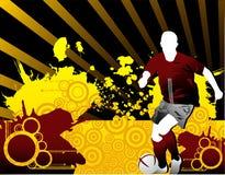 Composition de vecteur du football illustration stock