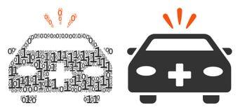 Composition de voiture de secours des éléments binaires illustration libre de droits
