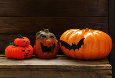 The composition decor for Halloween Royalty Free Stock Image